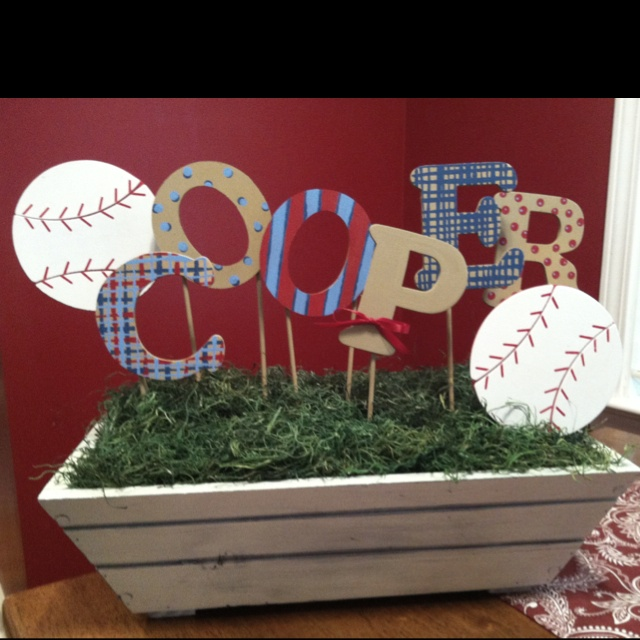 Personalized Baby Shower Centerpiece