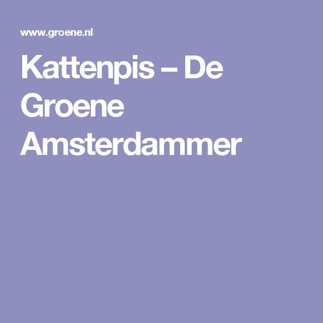 Kattenpis  – De Groene Amsterdammer