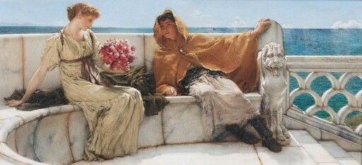 Sir Lawrence Alma-Tadema - Amo te, Ama me