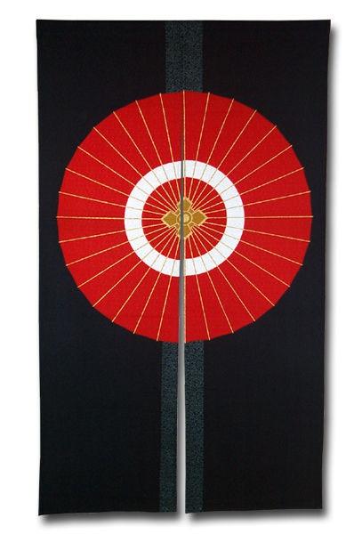 Umbrella design on noren...Pretty effective.