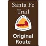 Original route sign for Santa Fe Trail.  These signs have been placed along the Santa Fe National Historic Trail through a partnership between the National Park Service and the Santa Fe Trail Association, the Chapters of the SFTA, and local entities.