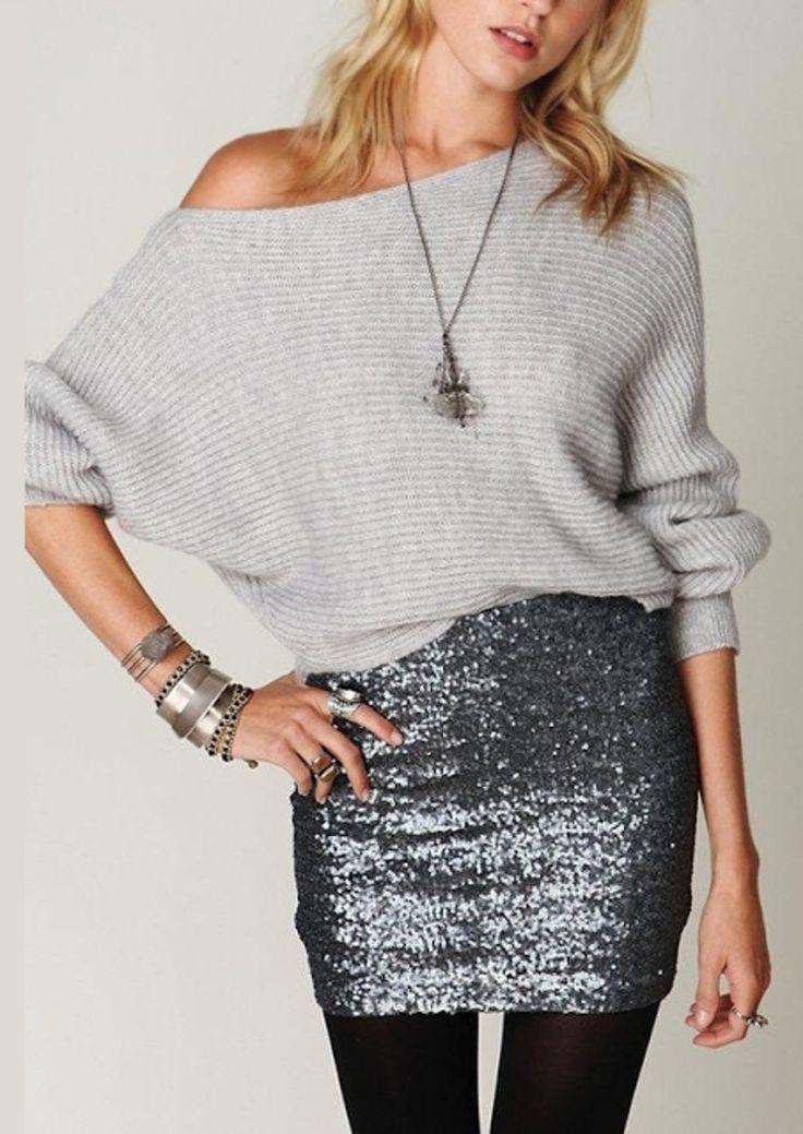 Piękny sweterek i mini