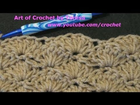 ▶ Simple Crochet - How to make the Crochet Shell Stitch - YouTube