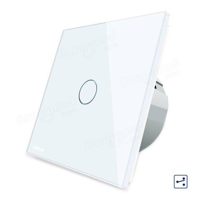 Livolo White Glass Touch Panel EU Standard Intermediate Switch VL-C701S-11 Sale - Banggood.com