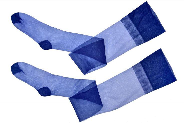 Pończochy RHT niebieskie 15 Den