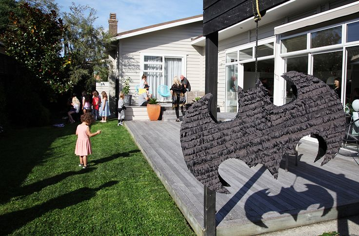 Custom Bat Piñata by Alanna the Planner.  See more at www.theprettybaker.co.nz #batparty #partythemes #partyideas #partystyling #partysupplies #partyproducts #theprettybaker #welovetoparty