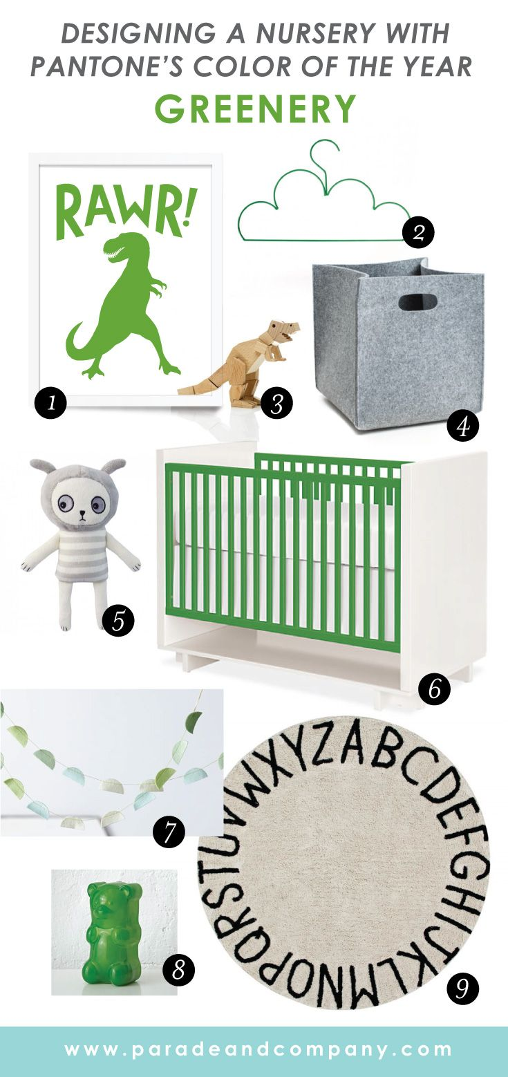Pantone s colour of the year 2017 greenery in kids rooms - Pantone S Color Of The Year 2017 Greenery