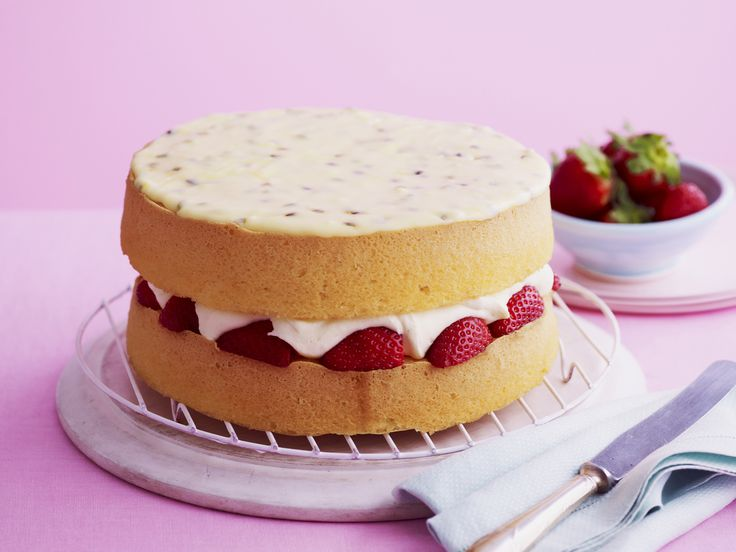 Sponge cake queen finalist Dawn's recipe  Take yourself back to those weekends with your grandmother with this light, fluffy sponge cake complete with delectable strawberries in cream.  Australian Women's Weekly