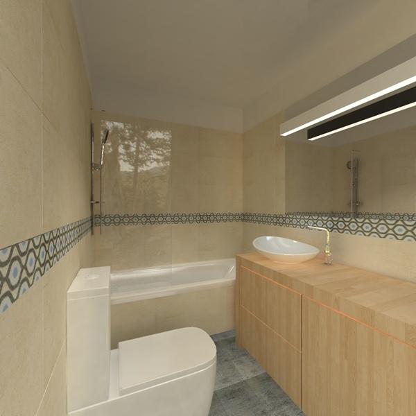 pastelowa łazienka w mieszkaniu w bloku