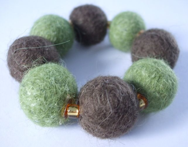 Felted Bracelet - Woodland £10.00
