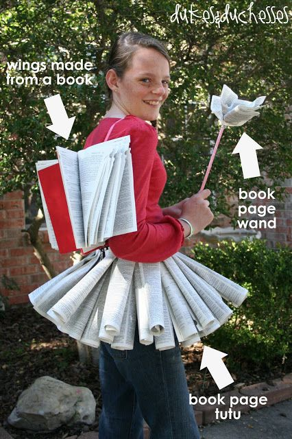 Homemade Book Fairy! So doing this for Peyton next year!!!