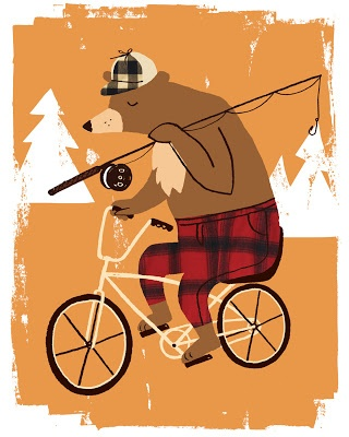 Bear Hunt by Neryl. Print available mail@neryl.com for enquiries