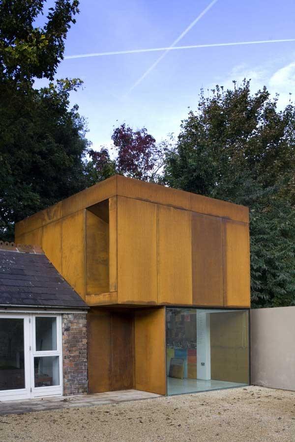 Corten Steel studio at Palmerston Road in Dublin by Boyd Cody Architects