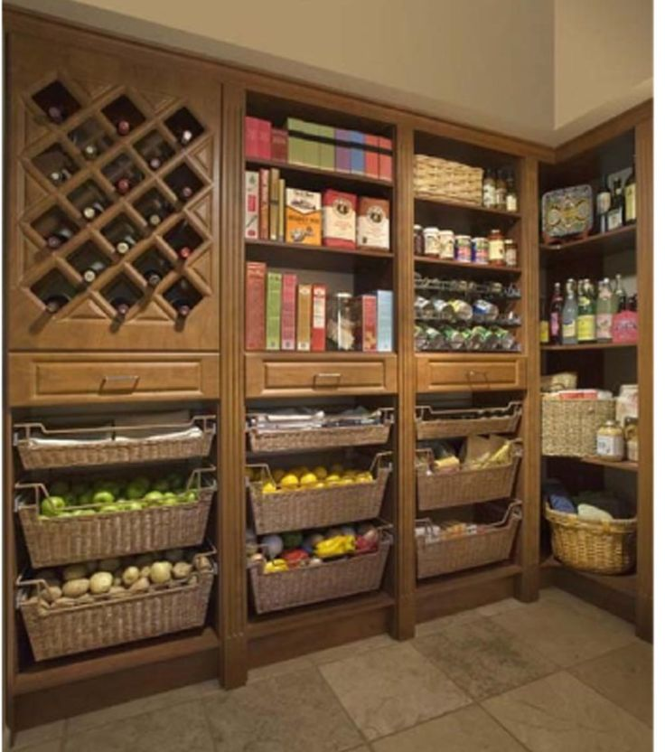 Pantry organization- We will nit have a deep walk in since we have limited space, however this layout  can work also in a linear cabinet. In that case there wood be a sliding door or cabinet swing doors in front of this organization.