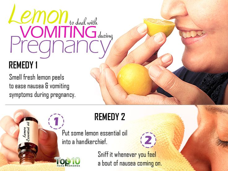 use lemon to control vomiting during pregnancy