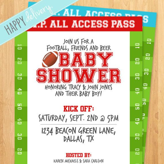 Charming Printable Football Baby Shower Invitation Itu0027s A By HappyDelivery