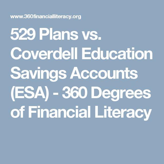 529 Plans vs. Coverdell Education Savings Accounts (ESA) - 360 Degrees of Financial Literacy