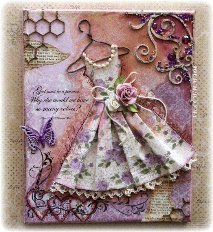 никогда открытки с днем рождения своими руками платья платье