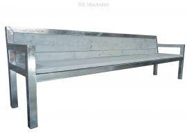 Stabilo met armleuningen en dichte rugleuning  Strakke complete bank met armleuningen en dichte rugleuning. lxbxh 160x56x80cm