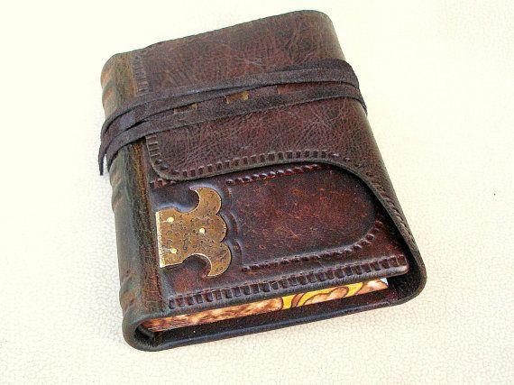 Leder-Journal Skizzenbuch dunkelbraunem rustikal von Leatherdust