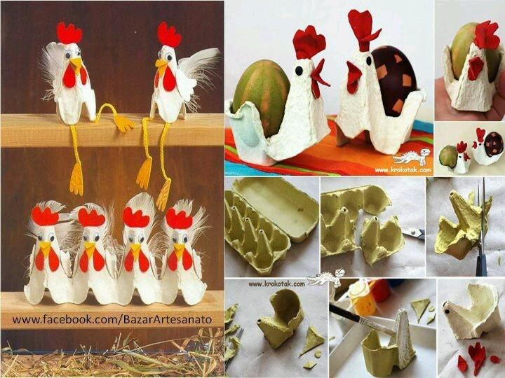 Cartones de huevos..hacemos gallinas