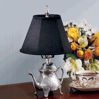 Silver Teapot Lamp