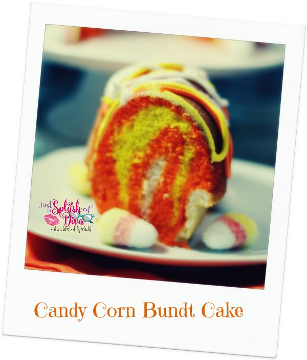 Candy Corn Bundt Cake: A tasty #Halloween #Recipe #Cake #Desserts