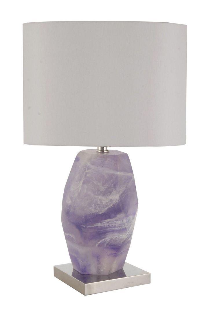Best 25 purple desk lamps ideas on pinterest light purple t l purple granite table lamp contemporary traditional transitional metal resin composite geotapseo Gallery