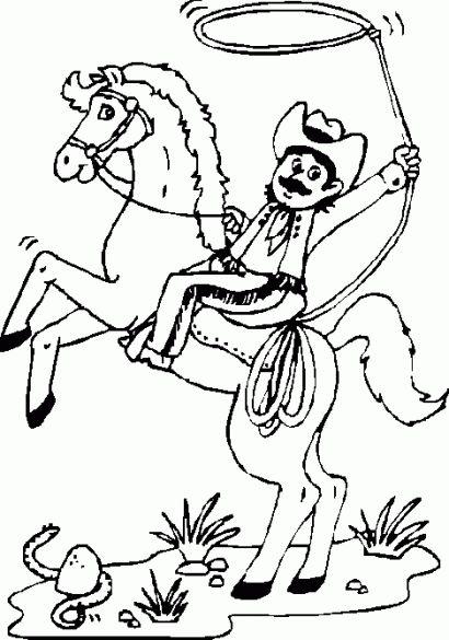 cowboy 2 ausmalbilder  malvorlagen pferde malvorlagen