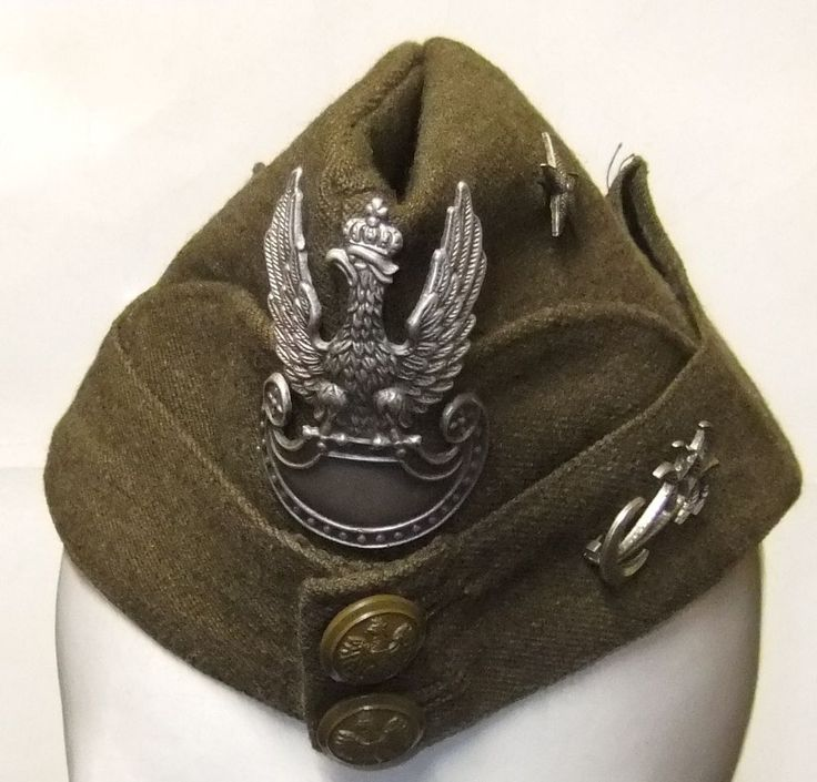 WW2 Polish Army side hat 2nd Corps 8th Army in Italy Original 1941