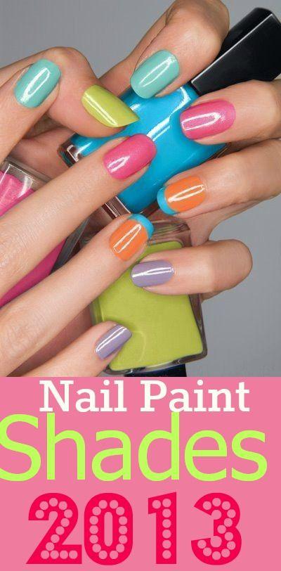 Top Nail Paint Shades 2013  #NailArt