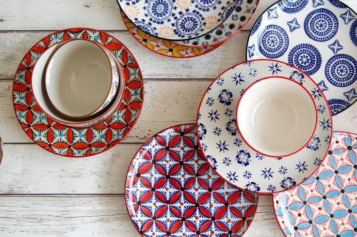 Pols Potten hippy plates and mosaic bowls