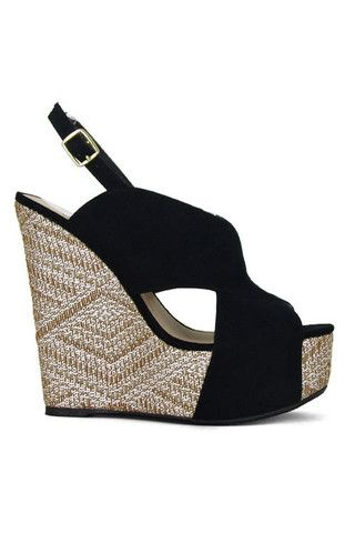 Picture Perfect Wedges - Black