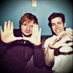 Hoodie Allen( Mr. I'm not a singer, I just rap pretty) and Ed Sheeran (Mr. I'm not a rapper, I'm a singer with a flow)