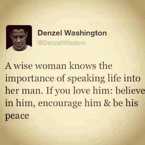 Denzel Washington #quotes #provestra.....A wise husband knows to do the same for…