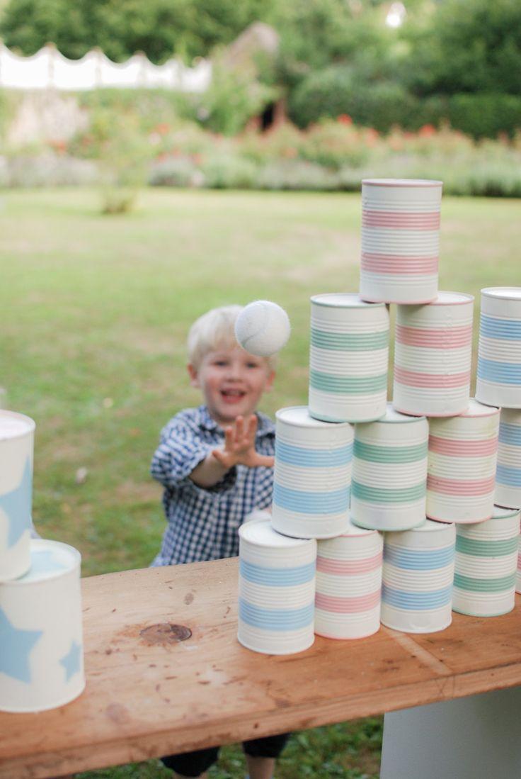 Mariage, jeux, enfants, boites de conserves, DIY, Chamboule-tout, champêtre // Wedding