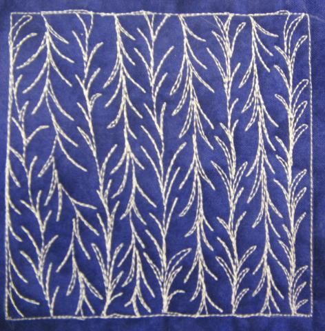 Vine Quilting Stencils : The Free Motion Quilting Project: Day 128 - Spiky Vine Quilt Pinterest The o jays ...