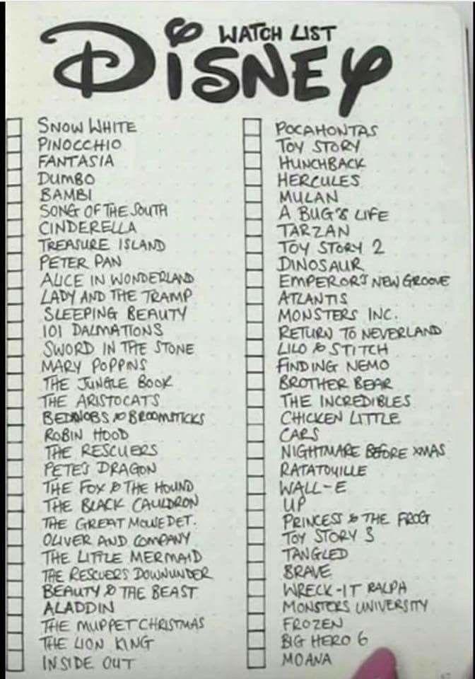 Disney Watch List | Disney movie collection, Disney movies ...