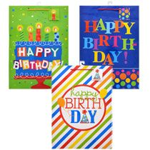 Bulk Voila Extra-Large All-Age Whimsical Birthday Gift Bags at DollarTree.com