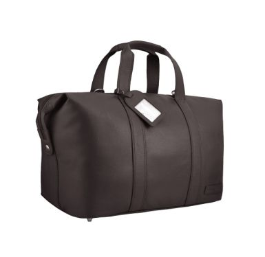Manzoni Leather Overnighter Bag: Brown - Jetsettr