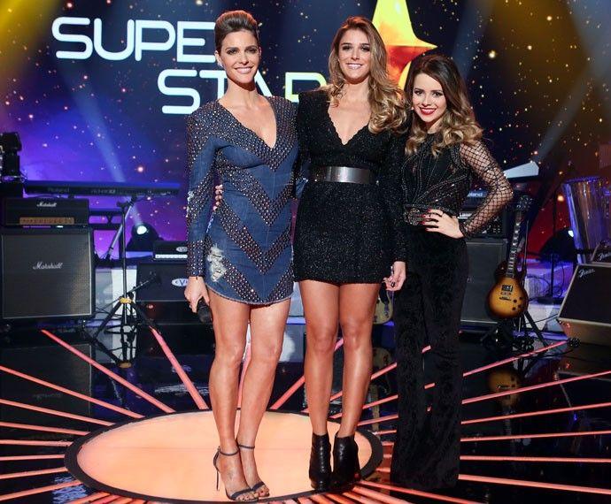 Todas #palcofashion #Fernanda Lima, Rafa Brites e #Sandy posam antes da final do SuperStar (Foto: Isabella Pinheiro / Gshow)