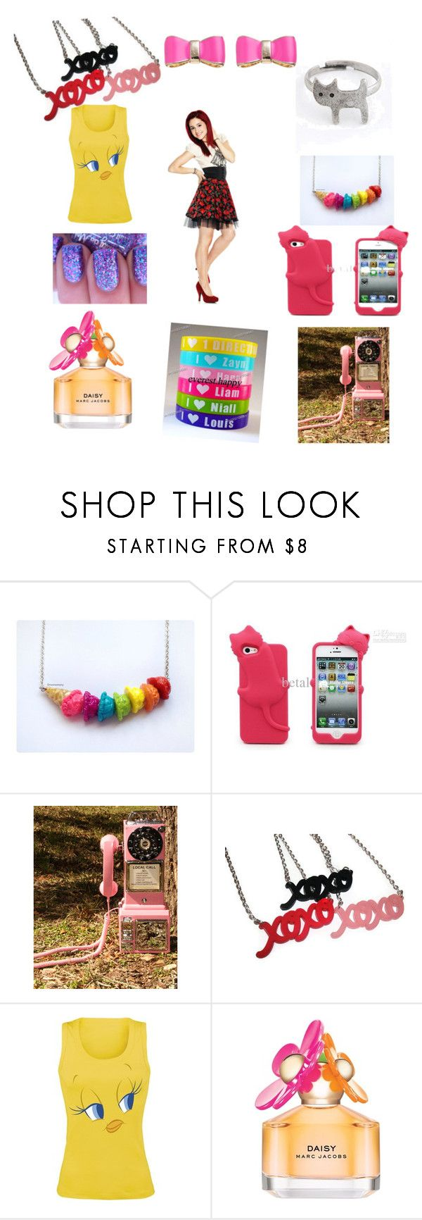 """""""The cat valentine look"""" by hannah-collins-1 ❤ liked on Polyvore featuring Retrò and Marc Jacobs"""