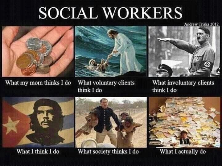 Funny!! and so true during my days of social working