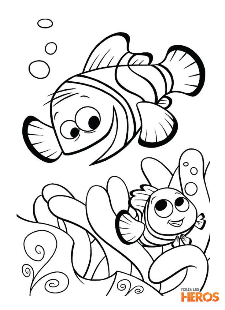 Finding Nemo And Father Coloring Pages