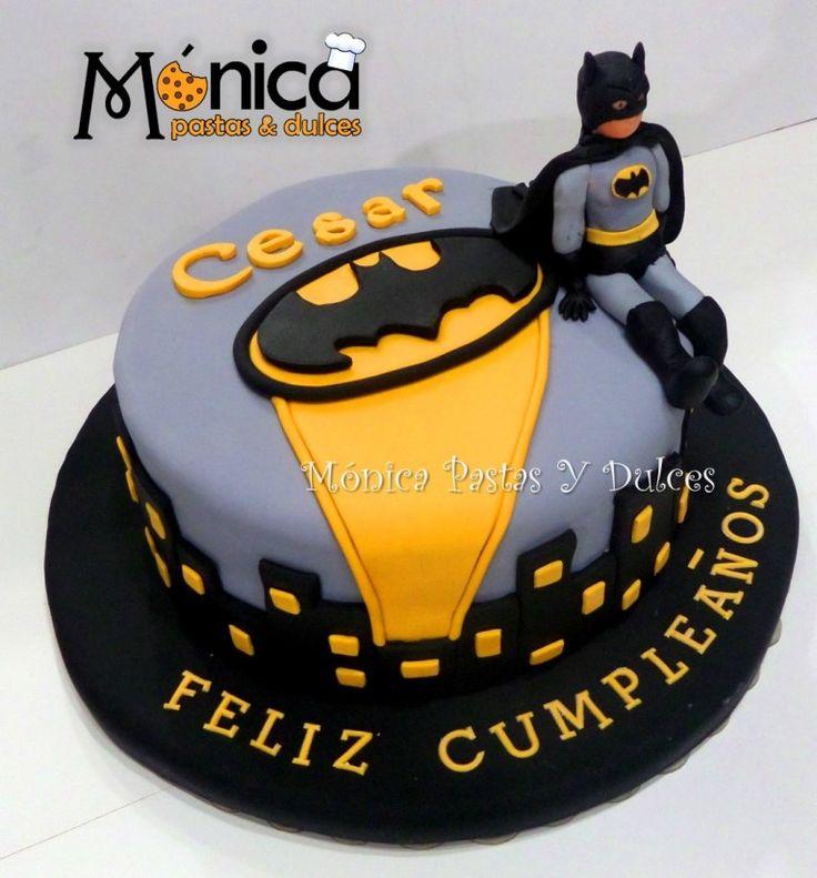 Torta Batman con detalles unicos en ella