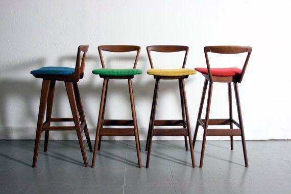 danish modern hansen teak bar stools denmark 1960's mid century - ค้นหาด้วย Google