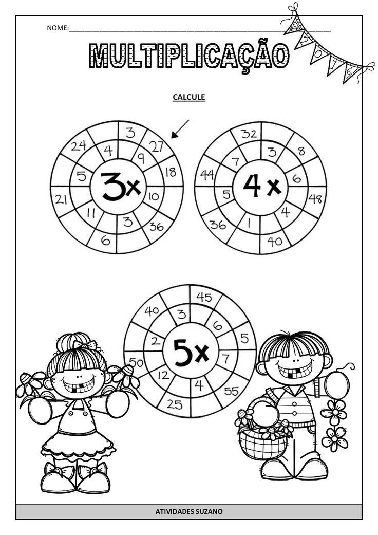 Atividade interativa para trabalhar multiplicação.                                                                                                                                                                                 Mais