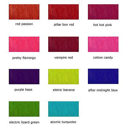 Best 25+ Manic panic color chart ideas on Pinterest Manic panic - sample hair color chart