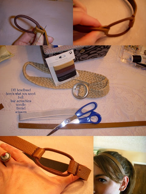 Desert Girls Vintage: DIY Leather Headband