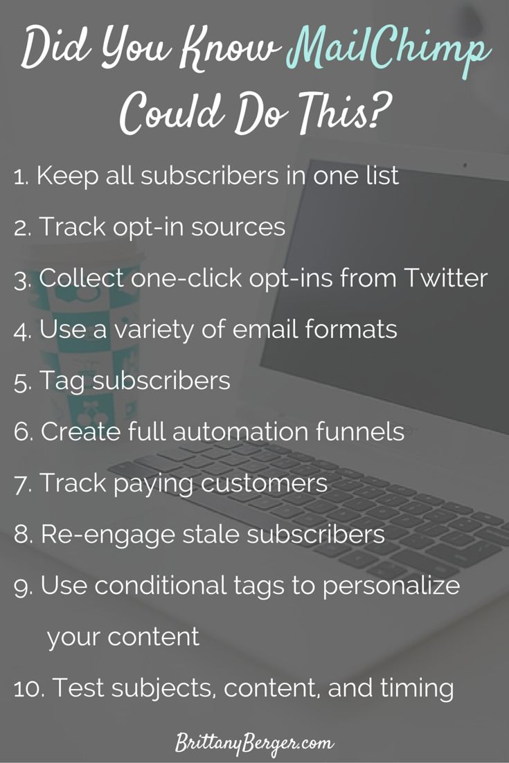 Did You Know MailChimp Could Do This- 10 Advanced MailChimp Email Marketing Features You Probably Forgot About